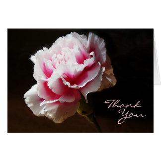 Pink Carnation Floral Design Thank You Greeting Card