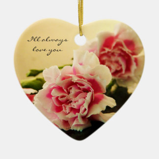 Pink Carnations Christmas Ornament