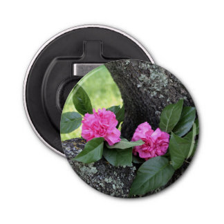 Pink Carnations Magnetic Bottle Opener
