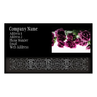 Pink carnations On White Light Business Cards