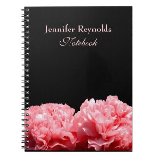 Pink Carnations Personal Notebook