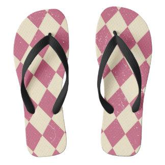 Pink carnival flip flops
