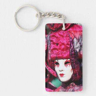 Pink Carnival Mask Venice Keychain