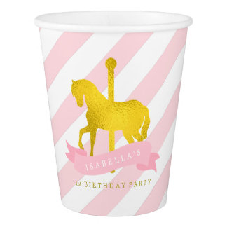 Pink Carousel Horse Birthday Party