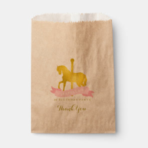 Pink Carousel Horse Birthday Party Favour Bags