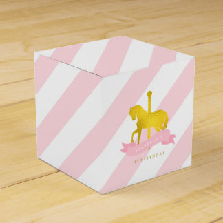 Pink Carousel Horse Birthday Party Favour Boxes