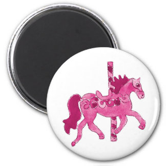 Pink Carousel Horse Magnets