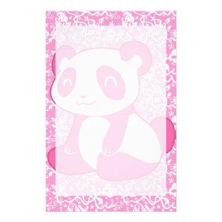Pink Cartoon Panda Customized Stationery
