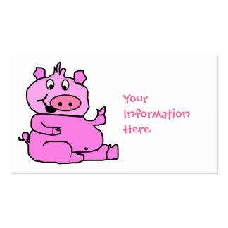 Pink Cartoon Pig Business Card