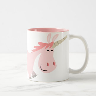 Pink Cartoon Unicorn  mug