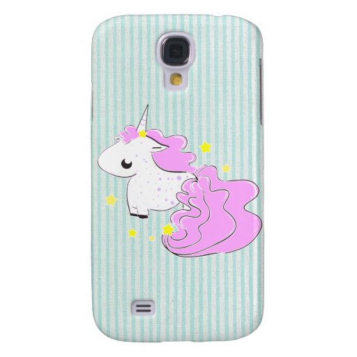 Pink cartoon unicorn with stars iPhone 3 Speck Galaxy S4 Cover
