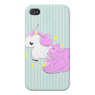 Pink cartoon unicorn with stars iPhone 4/4s Speck iPhone 4 Covers