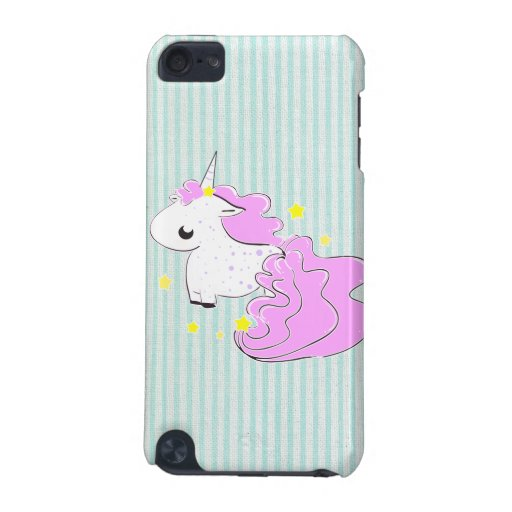 Pink cartoon unicorn with stars iPod Touch Speck iPod Touch (5th Generation) Covers