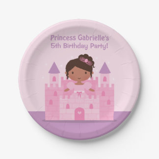 Pink Castle Princess Birthday Party Supplies 7 Inch Paper Plate