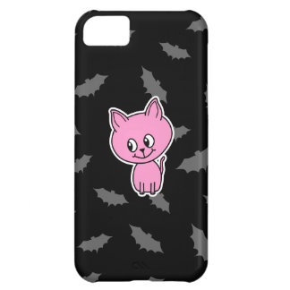 Pink Cat and Bats. iPhone 5C Cases