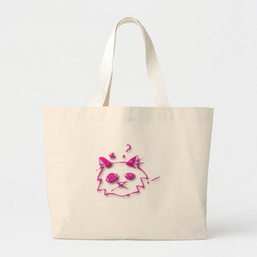 Pink cat bags