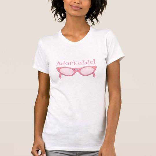 Pink Cat Eye Glasses - Personalise It T-Shirt
