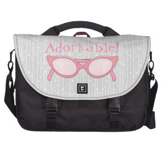 Pink Cat Eye Glasses - Personalize It Laptop Bag