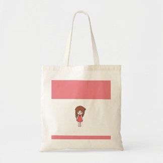 Pink Cat Girl Tote Bag