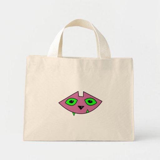 Pink Cat Head Tote Bag