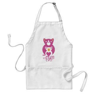Pink cat mom standard apron