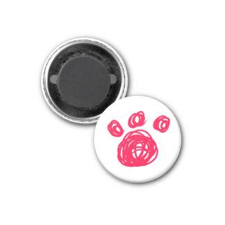Pink Cat Paw Magnet