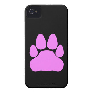 Pink Cat Paw Print Shape iPhone 4 Case