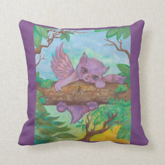 Pink Cat Winged Magical Cushion