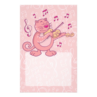 Pink Cat with Violin Custom Flyer