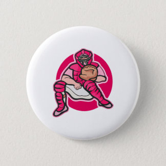 Pink Catcher 6 Cm Round Badge