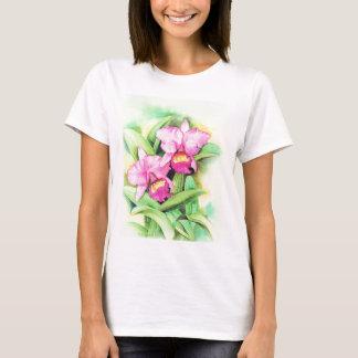 Pink Catleya Orchid Flower Art - Multi T-Shirt