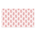 Pink Cats. Pattern Business Card Template
