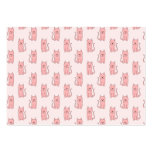 Pink Cats. Pattern Business Cards
