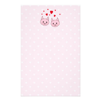 Pink cats with love hearts flyer
