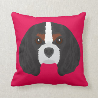 Pink Cavalier King Charles Spaniel Cushion