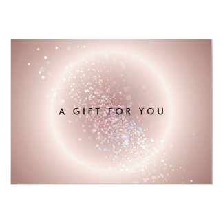 Pink Celestial Confetti Circle Gift Certificate Card
