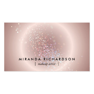 Pink Celestial Confetti Circle Makeup Artist Pack Of Standard Business Cards