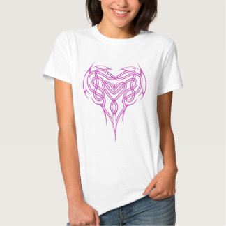 Pink Celtic Heart Knot Tshirts