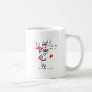Pink Centaury Lily Botanical Coffee Mugs