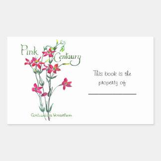 Pink Centaury Lily Botanical Rectangular Sticker