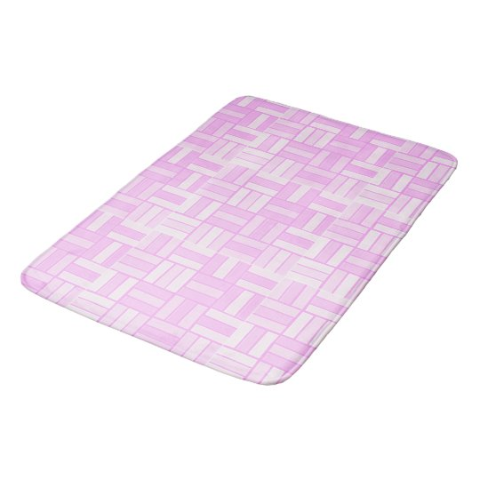 Pink ceramic-look tiled pattern bath mat