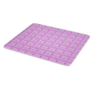 Pink ceramic tiles effect cutting board