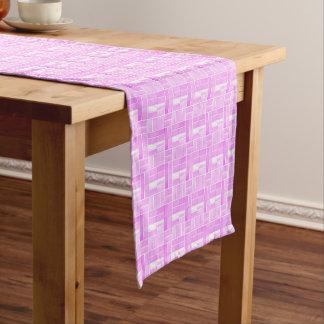 Pink ceramic tiles look pattern