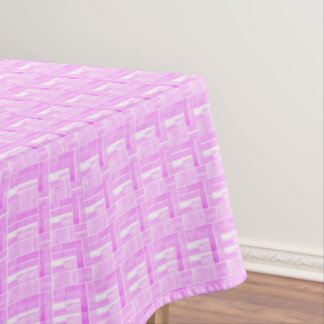 Pink ceramic tiles look pattern tablecloth