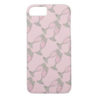 Pink Champagne Glass Bride Wedding Phone Case