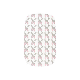 Pink Champagne Glass Cheers Toast Wedding Nails Nail Wrap