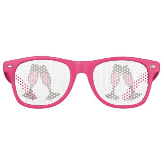 Pink Champagne Glass Toast Wedding Party Shades