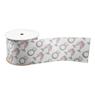 Pink Champagne Wedding Ring Bridal Shower Ribbon Satin Ribbon