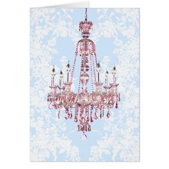 Pink Chandelier Cards