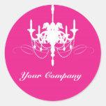 Pink Chandelier Custom Sticker